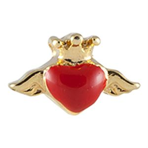 Picture of Red Heart with Wings Charm